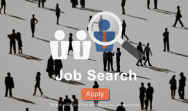 Concetto di Job Search Application Career Work Fotografia Stock