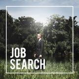 Concetto di Job Search Hiring Career Recruiting Fotografia Stock Libera da Diritti