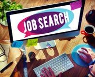 Concetto di Job Search Searching Career Application Fotografia Stock Libera da Diritti