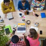 Concetto di lavoro del caffè dell'ufficio di pianificazione di creatività di idee Immagini Stock