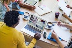 Concetto di lavoro del caffè dell'ufficio di pianificazione di creatività di idee Immagine Stock Libera da Diritti