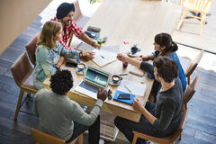 Concetto di lavoro del caffè dell'ufficio di pianificazione di creatività di idee Fotografie Stock
