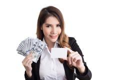 Concetto di lavoro della bella donna di affari Immagini Stock Libere da Diritti