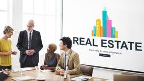 Concetto di lavoro della proprietà di Real Estate Immagini Stock Libere da Diritti