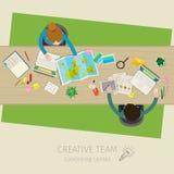 Concetto di lavoro di squadra creativo illustrazione vettoriale