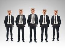 Concetto di lavoro di squadra dell'uomo d'affari Immagini Stock Libere da Diritti