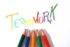 Concetto di lavoro di squadra della matita Immagini Stock