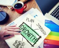 Concetto di lavoro di squadra di Growth Ideas Strategy dell'uomo d'affari Immagini Stock Libere da Diritti