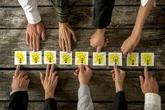 Concetto di lavoro di squadra e di 'brainstorming' Fotografie Stock Libere da Diritti