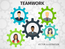 Concetto di lavoro di squadra per il web e infographic Fotografia Stock Libera da Diritti
