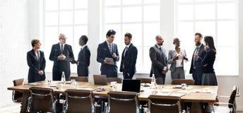 Concetto di lavoro di strategia di discussione di riunione del gruppo di affari Fotografie Stock Libere da Diritti