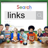 Concetto di lavoro di Team Using Technology Browsing Search immagine stock libera da diritti