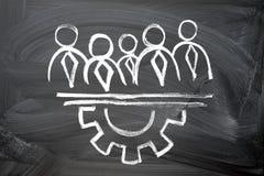 Concetto di lavoro di squadra Immagine Stock Libera da Diritti