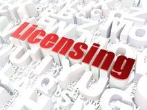Concetto di legge: Concedendo una licenza sul fondo di alfabeto Fotografia Stock Libera da Diritti