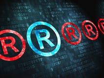 Concetto di legge: Registrato su fondo digitale Immagine Stock Libera da Diritti