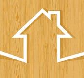 Concetto di legno della casa royalty illustrazione gratis