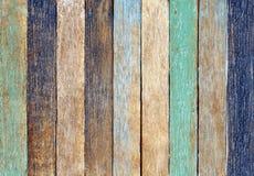 Concetto di legno variopinto del fondo della parete della plancia fotografia stock libera da diritti