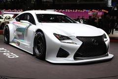 Concetto 2014 di Lexus RC F GT3 sul salone dell'auto di Ginevra Fotografie Stock