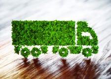 Concetto di logistica di ecologia Fotografie Stock Libere da Diritti