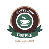 Concetto di logo del caffè Fotografie Stock