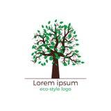 Concetto di logo dell'albero di vettore Illustrazione Vettoriale