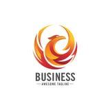 Concetto di logo di Phoenix Fotografie Stock Libere da Diritti