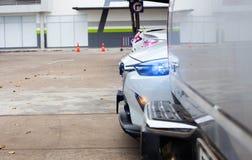 Concetto di lusso moderno di costoso, sport dell'insegna del primo piano dell'automobile automatici Immagine Stock Libera da Diritti