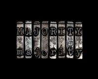 Concetto di maggioranza Immagine Stock Libera da Diritti