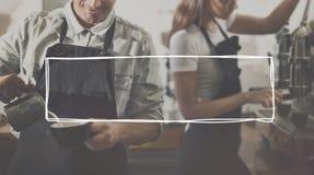 Concetto di Making Coffee Service di barista fotografie stock libere da diritti