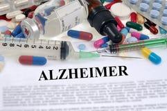Concetto di malattia del ` s di Alzheimer fotografie stock