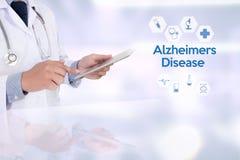 Concetto di malattia di Alzheimers, malattie degeneranti Parkin del cervello immagini stock libere da diritti