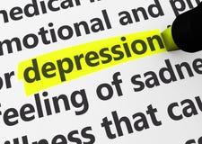 Concetto di malattia di malattia di depressione illustrazione di stock