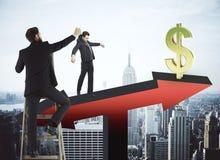 Concetto di manipolazione e di finanza Fotografia Stock