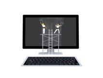 Concetto di manutenzione del computer Fotografia Stock Libera da Diritti