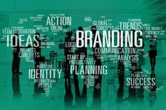 Concetto di marchio di fabbrica del mondo di identità di pubblicità di vendita marcante a caldo Immagine Stock Libera da Diritti