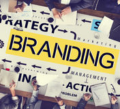 Concetto di marchio di fabbrica di profilo di vendita dell'etichetta marcante a caldo di marca Fotografie Stock
