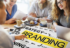 Concetto di marchio di fabbrica di profilo di vendita dell'etichetta marcante a caldo di marca fotografia stock