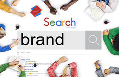 Concetto di marchio di fabbrica di pubblicità di vendita marcante a caldo di marca Immagine Stock Libera da Diritti