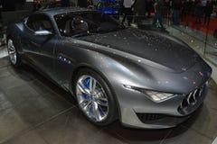 Concetto di Maserati Alfieri al salone dell'automobile di Ginevra Fotografie Stock Libere da Diritti