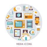 Concetto di mass media illustrazione di stock