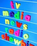 Concetto di media Immagini Stock Libere da Diritti