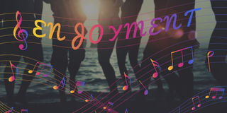 Concetto di Melody Music Note Rhythm Graphic Fotografia Stock