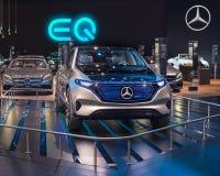 Concetto di Mercedes Generation EQ Fotografia Stock Libera da Diritti