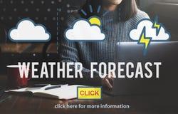 Concetto di meteorologia di temperatura di previsioni del tempo immagine stock libera da diritti