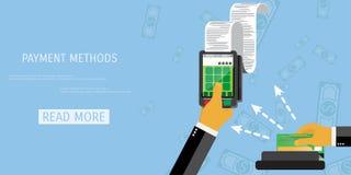 Concetto di metodi di pagamento di vettore Immagine Stock