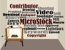 Concetto di micro vettore di riserva Fotografia Stock