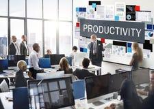 Concetto di miglioramento di sviluppo di efficienza di produttività Fotografia Stock