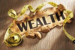 Concetto di misurazione di ricchezza Immagini Stock