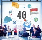 concetto di mobilità della rete del collegamento di telecomunicazione 4G Fotografia Stock Libera da Diritti