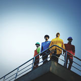 Concetto di modello di sostegno di protezione di Workers Men Safety immagini stock